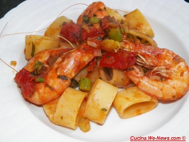Ricetta 39 39 pasta con mazzancolle e asparagi coltivati for Cucina facile ricette